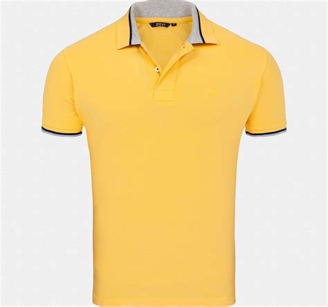 Details T Shirts banana pique polo t shirt with tipping details