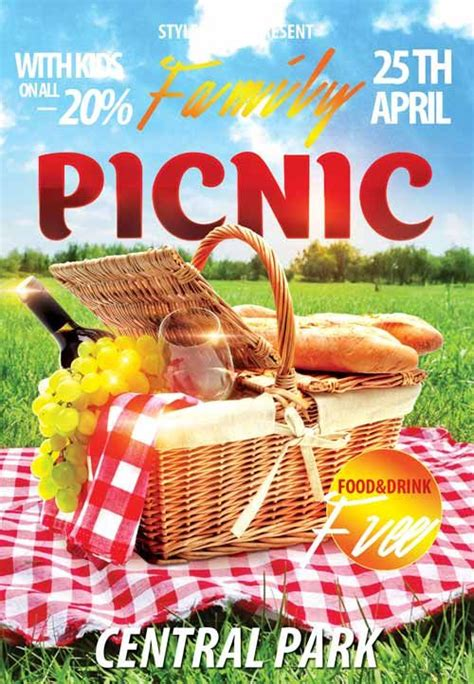 church picnic flyer templates family picknic free flyer template ihcc church design