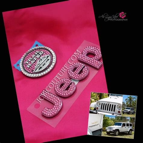 Pink Jeep Emblem Bling Jeep Grand Emblems Select Your