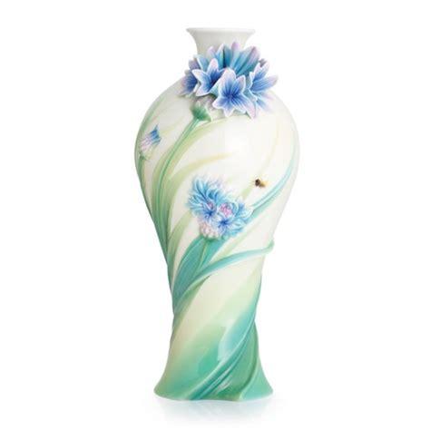 Franz Vase Collection by Franz Collection Cornflower Mid Size Vase Item Fz02846 From Distinctive Decor