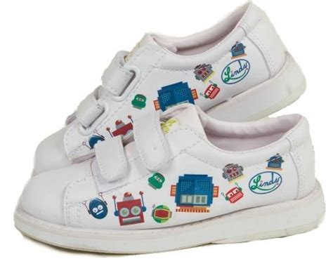 kid bowling shoes linds bot white with straps bowling shoes free shipping