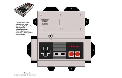 Nintendo Papercrafts - nintendo papercraft templates 28 images snes