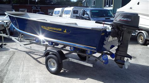 quicksilver tekne quicksilver 450 dlx aluminium boat with 30hp tohatsu for