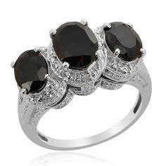 Channel Black Nickel spinel jewelry on