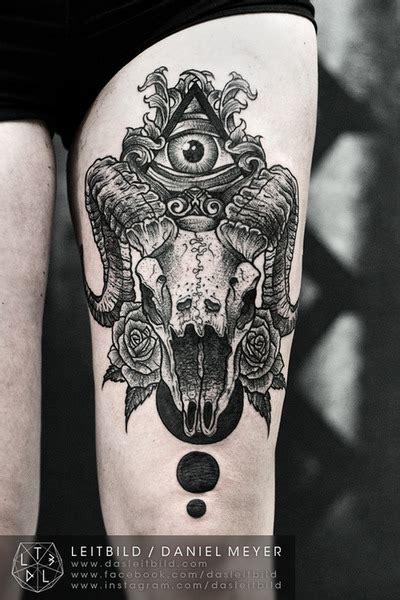 new school goat tattoo by daniel meyer via leitbild tatoo pinterest tattoo