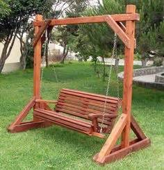wooden bench swing sets patio yard garden on pinterest bench swing swings and