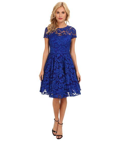 ted baker caree sheer floral overlay dress blue