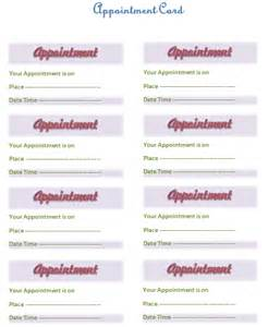 appointment sheet template word appointment card template templates for microsoft 174 word