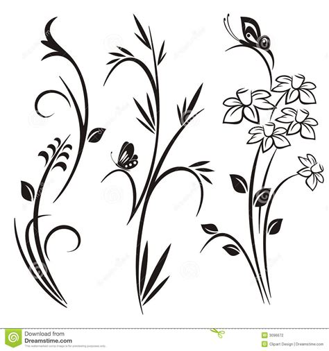 japanese floral design series stock vector image 3096672