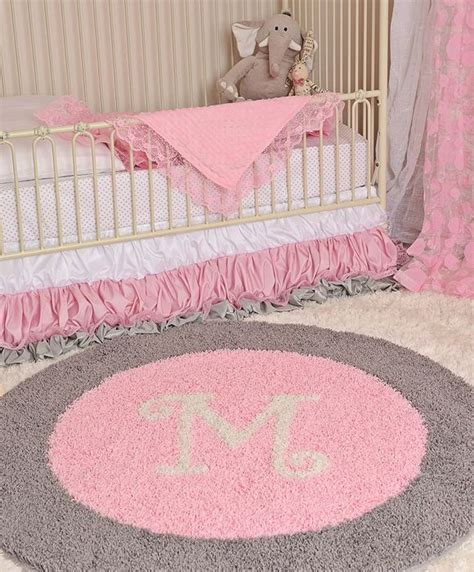pink and gray nursery design the personalized rug