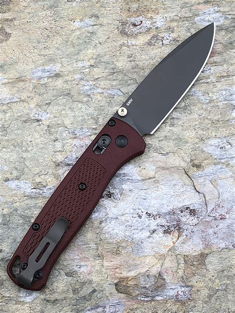 benchmade gry ch bugout custom cherry scales plain edge blade edc specialties  day