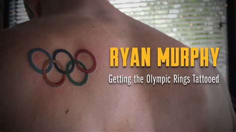 olympic rings small tattoo for cal s swimming murphy gets his olympic rings