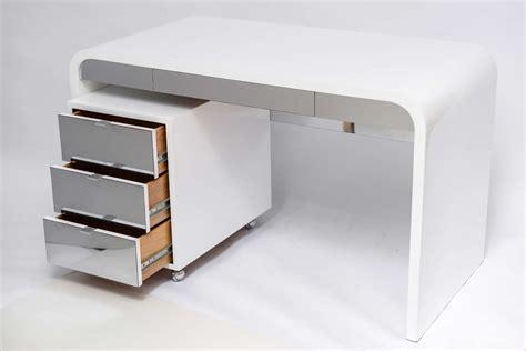 1970 S Waterfall Desk White Laquered And Chrome Laminate White Laminate Desk
