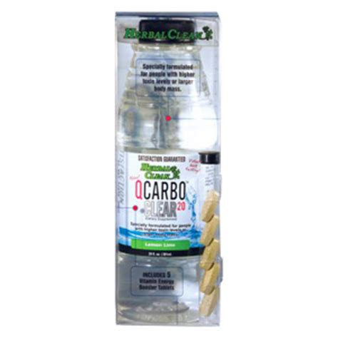 Qcarbo Clear Detox 20 by Herballoveshop Q Carbo Clear Lemon Lime 20 Oz