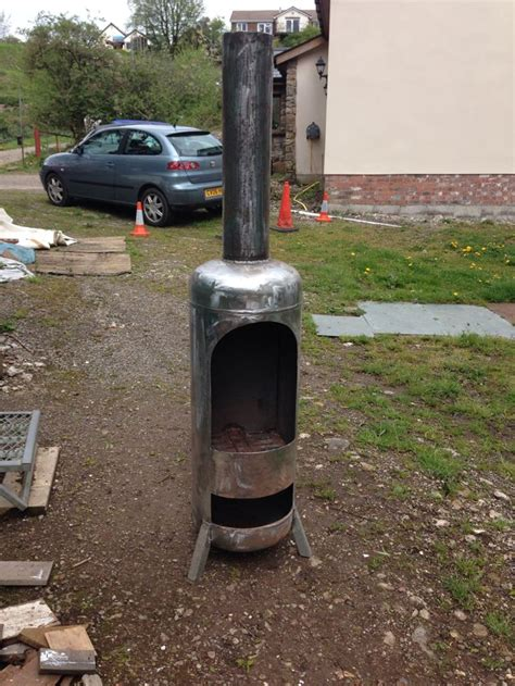 Gas Bottle Chiminea Plans by 25 Best Ideas About Outdoor Wood Burner On