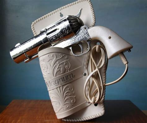 Handgun Hair Dryer 357 magnum gun hair dryer on the hunt