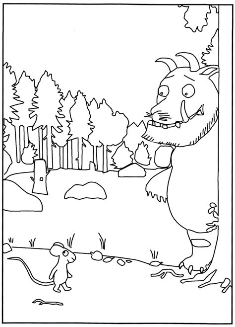 The Gruffalo Colouring Pages Kleurplaat Gruffalo De Gruffalo In De Kleuterklas by The Gruffalo Colouring Pages