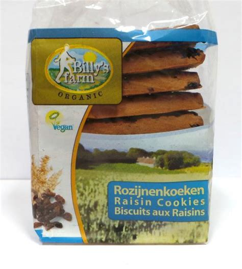 Dihani Snack Vegan Handmade Biscuits organic raisin cookies in 230g pack from billy s farm