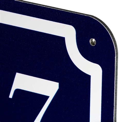 Strass Aufkleber Zahlen by Hausnummer Und Stra 223 E Schild Lang Selbst Gestalten