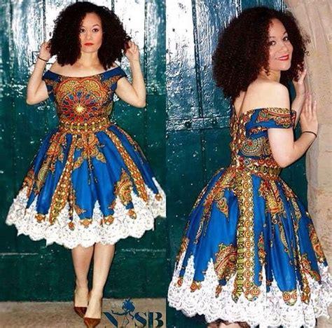 ankara and lace styles lovely style mix of lace ankara asoebi amillionstyles com