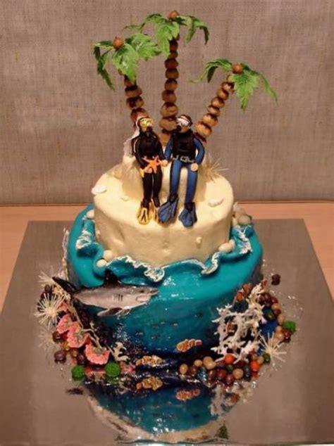 Wedding Cakes Island island wedding cake
