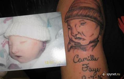 tattoo fail baby holding finger самые страшные татуировки своих детей 11 фото картинки