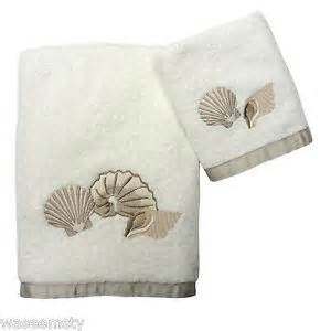 seashell bath towels pearl seashell sea shell tropical nautical bath towel