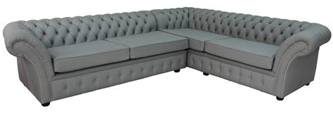 Square Chesterfield Sofa Chesterfield Balmoral Square Corner Sofa Unit Cushioned 3 Seater Corner 2 Seater Moon Mist