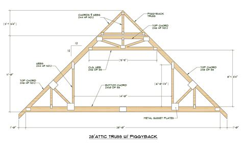 click here for pdf file of truss design 28 standard attic truss 12 12 pitch cabin