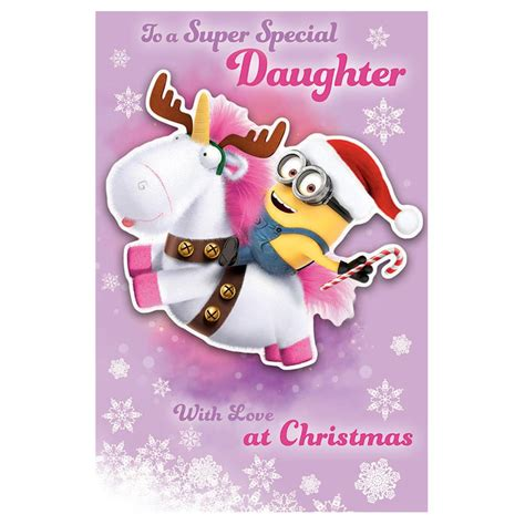 despicable  minions special daughter christmas card dmx character brands