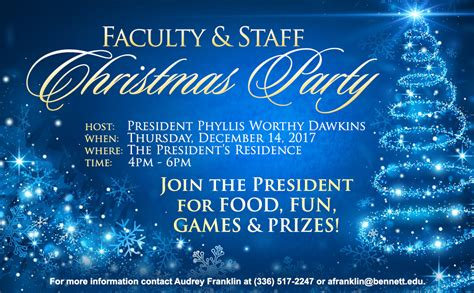 what to by staff for christmas faculty staff hosted by president dawkins college