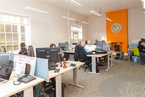 open plan production bureau office design norfolk