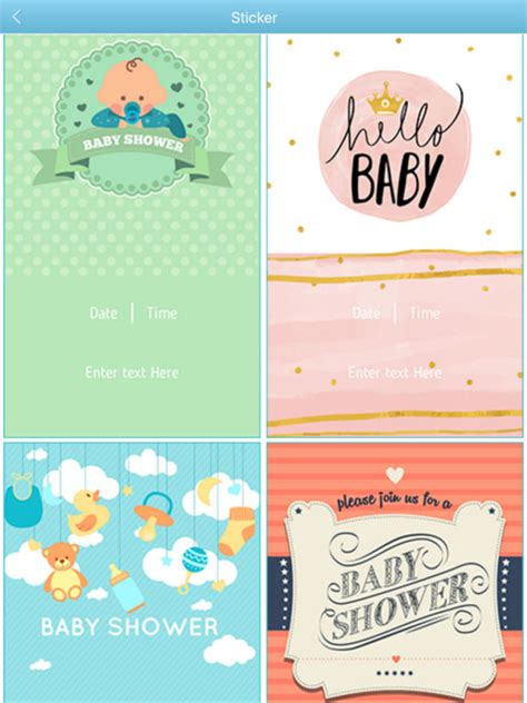 Baby Shower Invitation Maker by App Shopper Baby Shower Invitation Cards Maker Hd