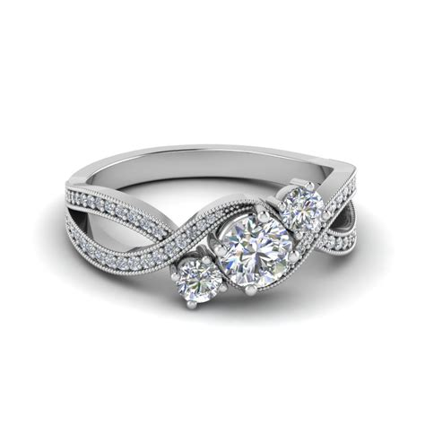 Shop for Latest Twist & Swirl Engagement Rings at