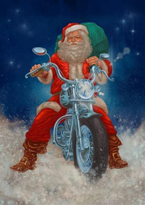 santa on a motorcycle santa on motorcycle