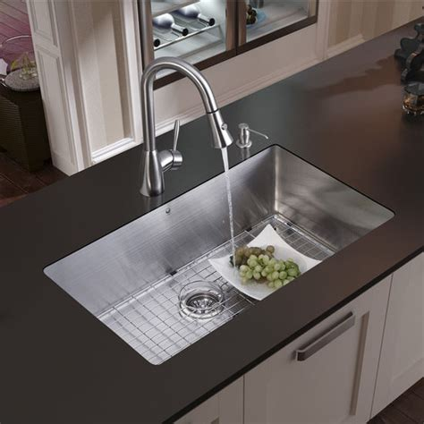 all in one 32 quot mercer stainless steel undermount kitchen