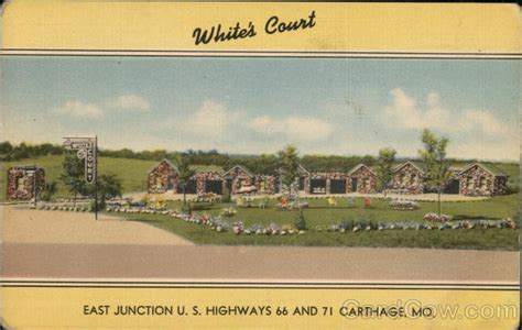 Carthage White white s court carthage mo postcard