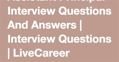 assistant principal questions and answers