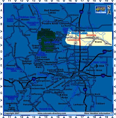 loveland colorado map loveland colorado map central co colorado