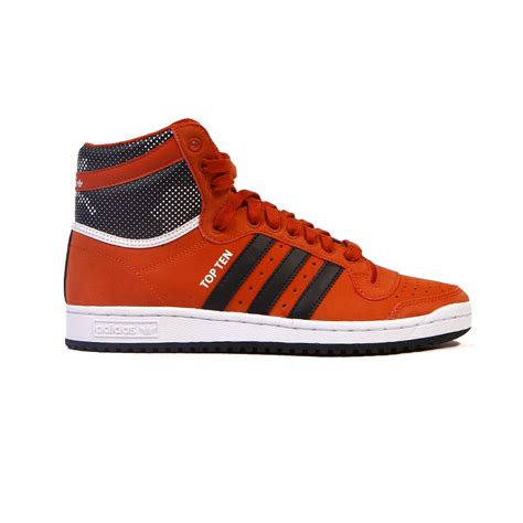 adidas red shoes adidas top ten hi fox red black men s shoes s86000 ebay