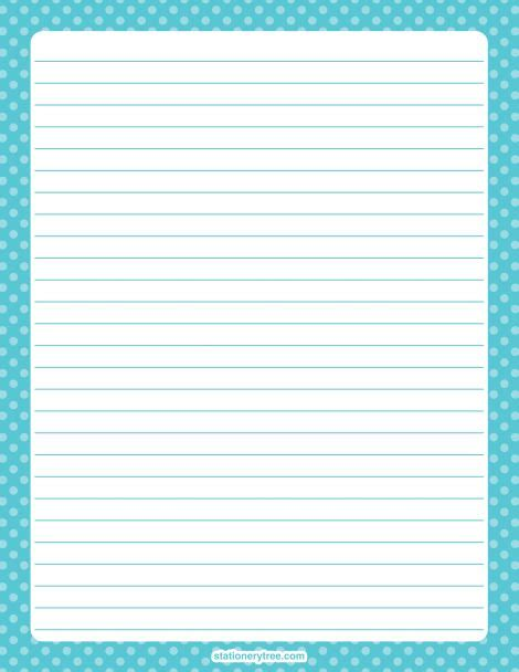 free printable stationery paper without lines printable blue polka dot stationery and writing paper