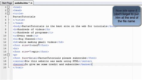 tutorial html script html tutorial 6 how to centre text and making banners