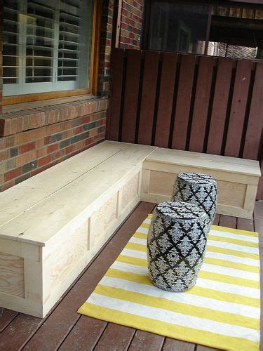 diy bench seat with storage 25 best ideas about outdoor storage benches on pinterest