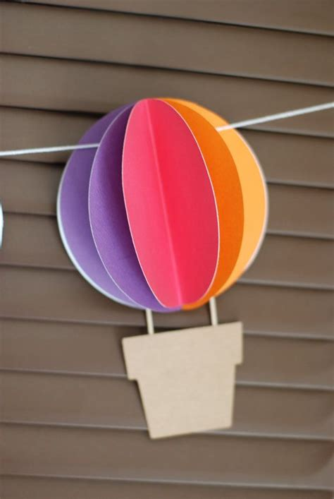 pattern for paper hot air balloon paper hot air balloons craft ideas pinterest