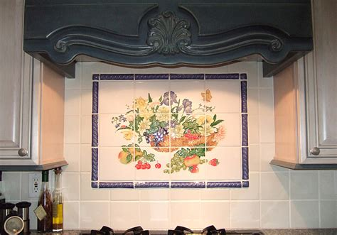 Tile Murals For Kitchen Backsplash kitchen tiled back splash
