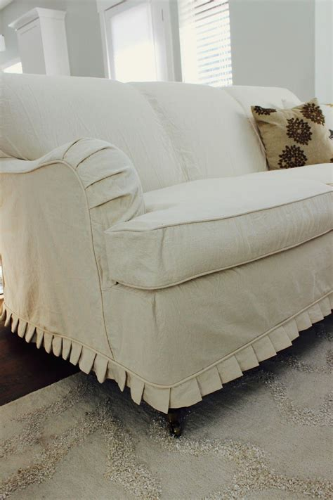 sectional couch slip cover custom slipcovers by shelley cream duck cloth couch