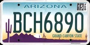 the official arizona state license plate the us50