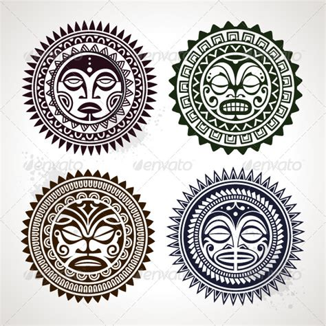 graphicriver tattoo maker polynesian tattoo styled masks graphicriver