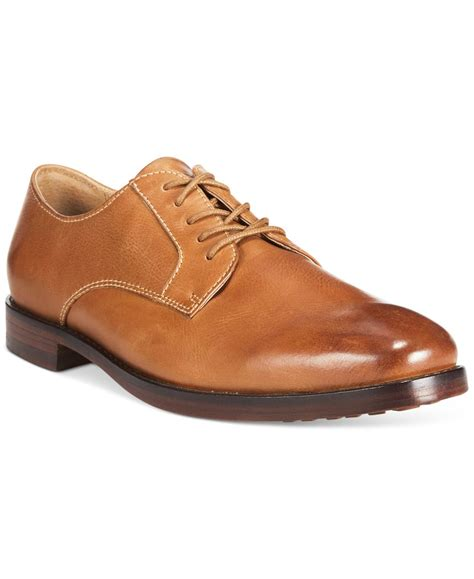 polo ralph domenick dress shoe in brown for lyst