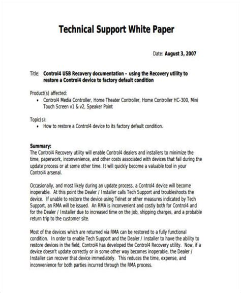 technical paper writing format 35 sle white papers